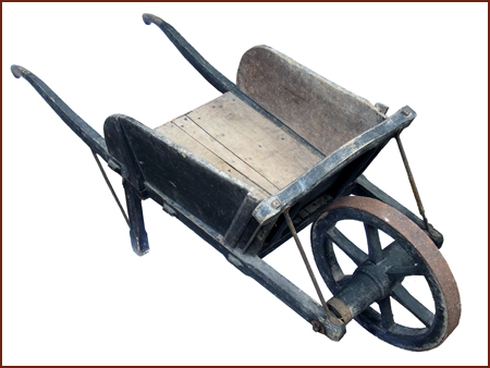 Wheelbarrow i virtual museum for Garden tools for sale uk